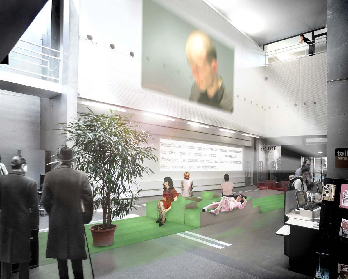 conception/réalisation de la scénographie pour l'événement «court(s) circuit » sur le thème de la performance et des arts numériques