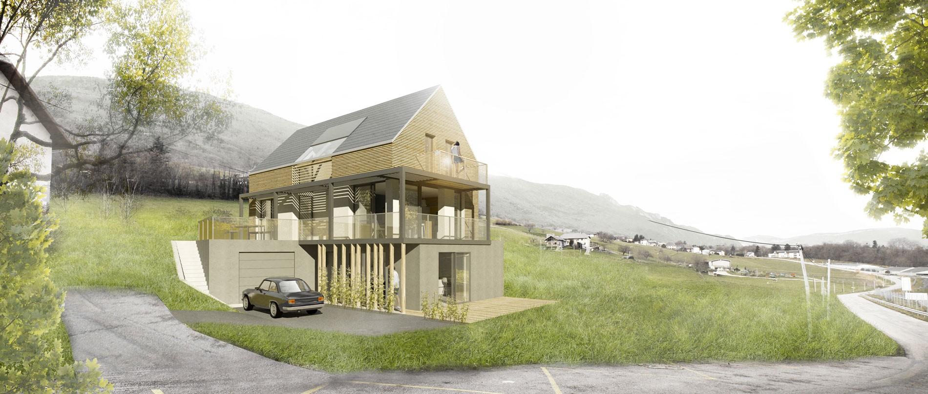 Maison individuelle ossature bois asb architecture for Architecture maison individuelle