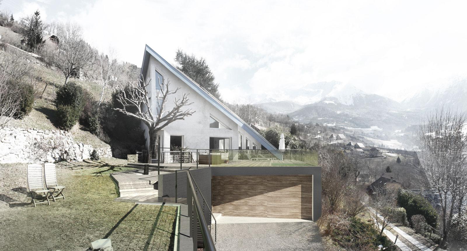 Extension d'une villa individuelle + création piscine